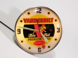 CIRCA 1950S VANDERBILT TIRES AUTOMOTIVE GARAGE CLOCK