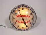 LATE 1950S-EARLY 60S WAGNER-LOCKHEED LIGHT-UP GARAGE CLOCK