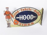 1920S HOOD TIRES TIN LITHO AUTOMOTIVE GARAGE FLANGE