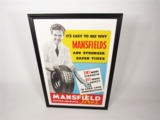 CIRCA 1940S MANSFIELD TIRES DEALERSHIP SALES POSTER