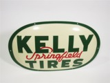 1962 KELLY SPRINGFIELD TIRES TIN GARAGE SIGN