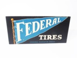 CIRCA LATE 1920S FEDERAL TIRES ADVERTISING CARDBOARD SIGN