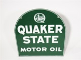 VINTAGE QUAKER STATE MOTOR OIL TIN AUTOMOTIVE GARAGE SIGN