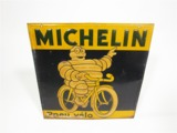 CIRCA 1930S MICHELIN PNEU V...LO (BICYCLE TIRES) TIN GARAGE SIGN