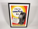 1930S GOODYEAR R-1 TIRES AUTOMOTIVE GARAGE POSTER.