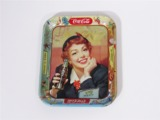MID-1950S COCA-COLA LUCY METAL SERVING TRAY
