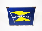CIRCA 1950S GOODYEAR TIRES PORCELAIN DEALERSHIP SIGN
