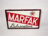 CIRCA LATE 1940S-EARLY 50S TEXACO OIL MARFAK LUBRICATION TIN SIGN