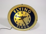 EARLY 1950S FLYING A TIRES SERVICE STATION CLOCK