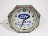 CIRCA 1930S-40S FORD NEON DEALERSHIP CLOCK
