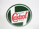 1940S CASTROL MOTOR OIL PORCELAIN SERVICE STATION SIGN
