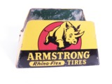CIRCA LATE 1950S-EARLY 60S ARMSTRONG TIRES AUTOMOTIVE GARAGE TIRE DISPLAY STAND