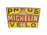 LATE TEENS MICHELIN PNEUS V...LO (BICYCLE TIRES) TIN GARAGE SIGN