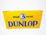 1930S DUNLOP TIRES PORCELAIN AUTOMOTIVE GARAGE SIGN