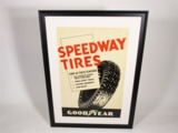 1930S GOODYEAR SPEEDWAY TIRES SERVICE STATION POSTER