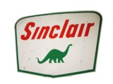 LARGE 1960S SINCLAIR OIL TIN SERVICE STATION SIGN
