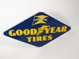 LATE 1940S GOODYEAR TIRES PORCELAIN DEALERSHIP SIGN