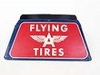 1950S FLYING A SERVICE SERVICE STATION METAL TIRE HOLDER