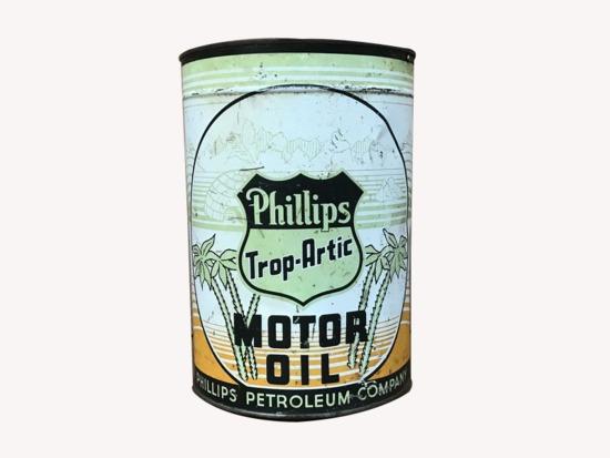 1930S PHILLIPS TROP-ARTIC OIL TIN