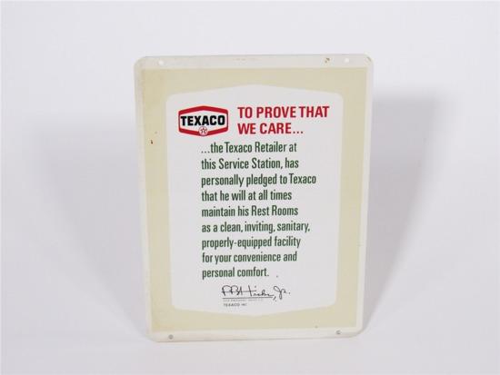 EARLY NOS 1960S TEXACO SERVICE STATION DEALER TIN SIGN