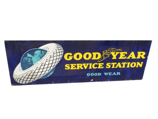 1930S GOODYEAR SERVICE STATION PORCELAIN SIGN