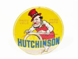 1930S HUTCHINSON OF PARIS BICYCLE AND MOTORCYCLE TIRES TIN SIGN