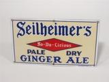1930S SEILHEIMERS PALE DRY GINGER ALE PORCELAIN SIGN