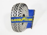 OVERSIZED CIRCA LATE 1930S GOODYEAR TIRES PORCELAIN GARAGE FLANGE