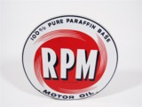 EARLY 1950S RPM MOTOR OIL PORCELAIN SERVICE STATION SIGN