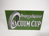 LATE TEENS-EARLY 20S PENNSYLVANIA VACUUM CUP TIRES PORCELAIN AUTOMOTIVE GARAGE SIGN