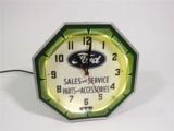 1930S-40S FORD NEON DEALERSHIP CLOCK
