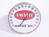 VINTAGE AMALIE MOTOR OIL SERVICE STATION DIAL THERMOMETER