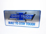 VINTAGE CHEVY TRUCK EMBOSSED TIN SIGN