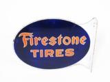 1930S FIRESTONE TIRES PORCELAIN AUTOMOTIVE GARAGE FLANGE