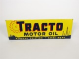 CIRCA 1940S-50S TRACTO MOTOR OIL EMBOSSED TIN SIGN