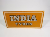 1940S INDIA TYRES PORCELAIN GARAGE SIGN