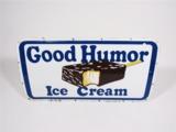 1950S GOOD HUMOR ICE CREAM PORCELAIN ICE CREAM TRUCK SIGN