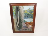 LATE TEENS EARLY 20S UNITED STATES TIRE COMPANY TIN LITHO GARAGE SIGN