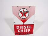 1954 TEXACO DIESEL CHIEF PORCELAIN SIGN