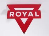 1950S CONOCO ROYAL GASOLINE PORCELAIN SERVICE STATION PUMP-PLATE SIGN