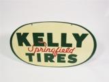 1939 KELLY SPRINGFIELD TIRES TIN GARAGE SIGN