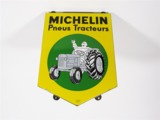 VINTAGE MICHELIN PNEUS TRACTEURS (TRACTOR TIRES) PORCELAIN SIGN