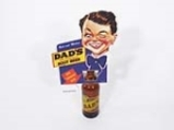1940S-50S DADS OLD FASHIONED ROOT BEER BOTTLE TOPPER CARDBOARD DISPLAY PIECE