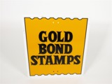 VINTAGE GOLD BOND STAMPS EMBOSSED SERVICE STATION SIGN