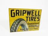 1920S GRIPWELL TIRES TIN LITHO GARAGE FLANGE