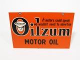 1949 OILZUM MOTOR OIL TIN FILLING STATION SIGN