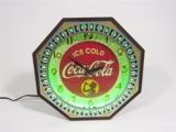 1940S COCA-COLA NEON SPINNER WALL CLOCK