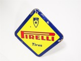 EARLY 1960S PIRELLI TIRES PORCELAIN AUTOMOTIVE GARAGE SIGN