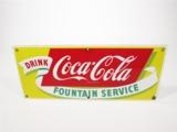 1950S COCA-COLA PORCELAIN DINER SIGN