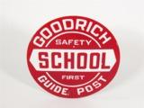 1920S-30S GOODRICH PORCELAIN SCHOOL ZONE SIGN